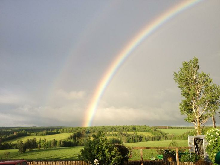 Rainbow at Just-Another Farm in Hunter River, PEI on June 21, 2014 - taken by farm owner Velma Vos.