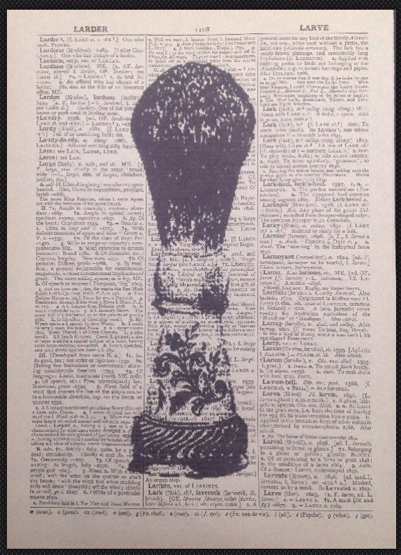 Vintage Razor Print Dictionary Page Wall Art Picture Beard Shaving Barbers