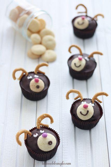 Cupcakes: le renne di Babbo Natale