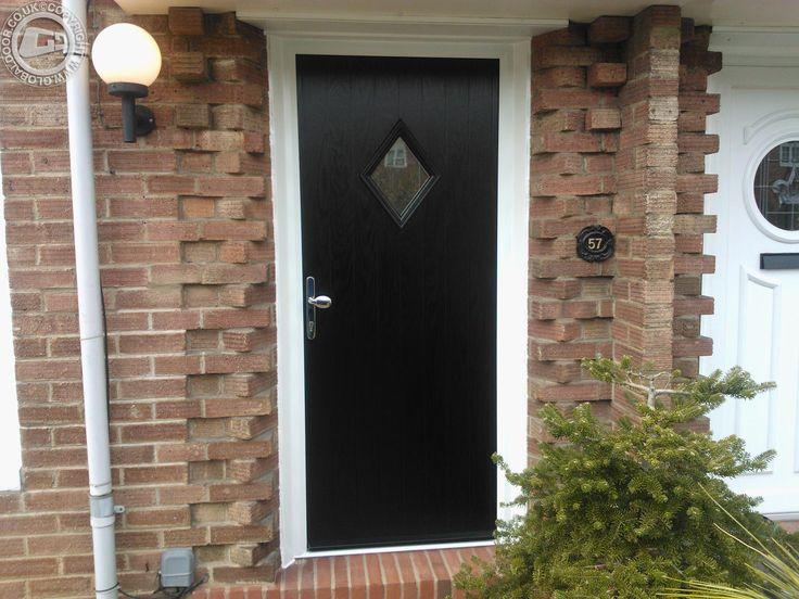 Black diamond composite front door