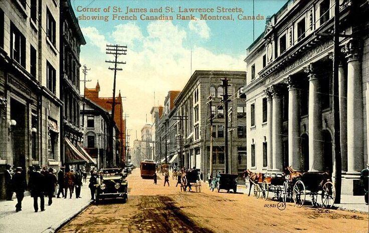 Au tournant du 20e siècle, les commerces se déplacent de la rue Saint-Jacques vers la rue Sainte-Catherine, qui s'affirme dès lors comme principale artère commerciale de la ville.
