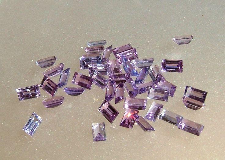 Purple Lavender Sapphire Baguette Loose Gemstone Lot 11.15cttw 4.5 x 2.5mm 42 Gems Natural Sapphires by Gemsbygigialonia on Etsy