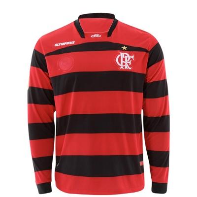 ecc9d7a8ce399 Camisa de Futebol Oficial Flamengo 1 s n 2011 Olympikus Manga Longa PT VMH