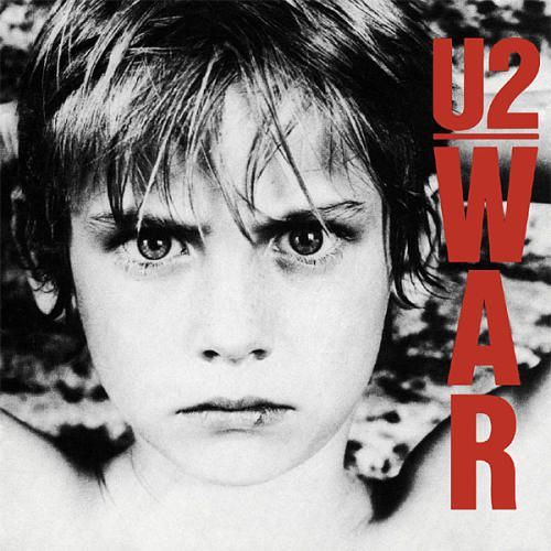 U2 - War (1983) - Bono and crew put a child's face on the cover rather than typical war imagery to remind listeners of the humanity involved in battle. The same boy, Peter Rowen, graced the covers of the band's Boy, Three, The Best Of 1980 – 1990, and Early Demos albums.