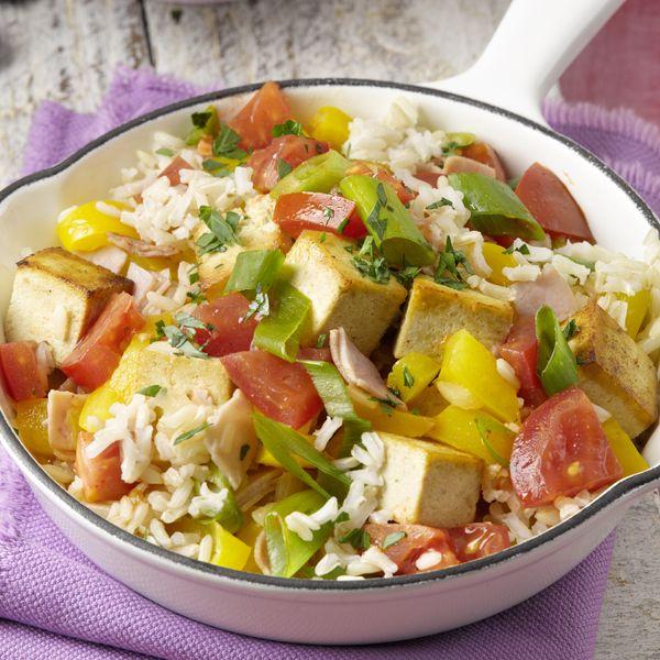 Kleurrijk en lekker: Rijstpannetje met ham en tofu #diner #PowerStart #WeightWatchers #WWrecept