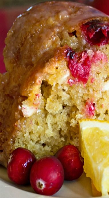 Cranberry Orange Bundt Cake with White Chocolate Glaze ~ Seriously delicious!
