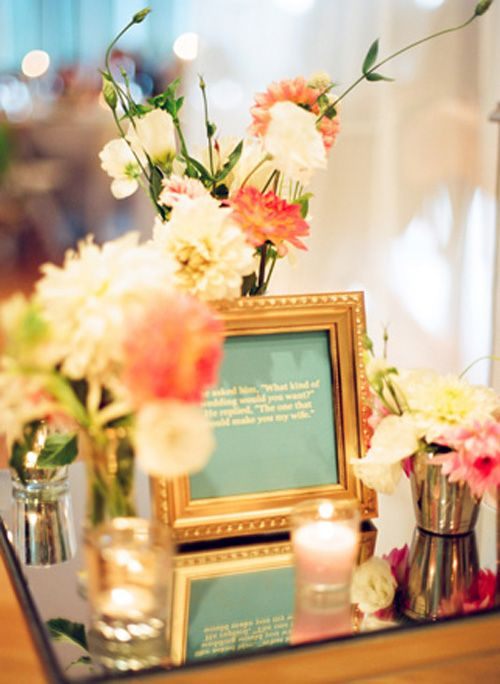 59 best mia quinceanera floral ideas images on pinterest wedding mirrored bases add more lightcandles to the centerpiece we can use quotes that junglespirit Gallery