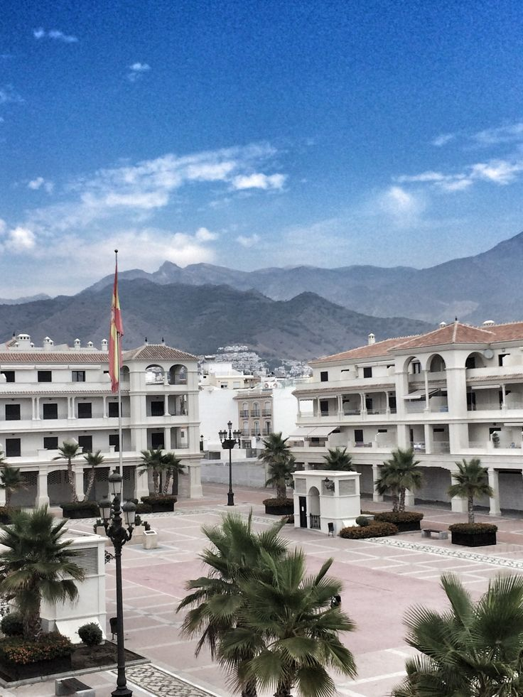 Balcony view of the Plaza #Nerja