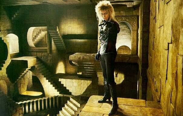Mc Escher stairs, Jareth the Goblin King
