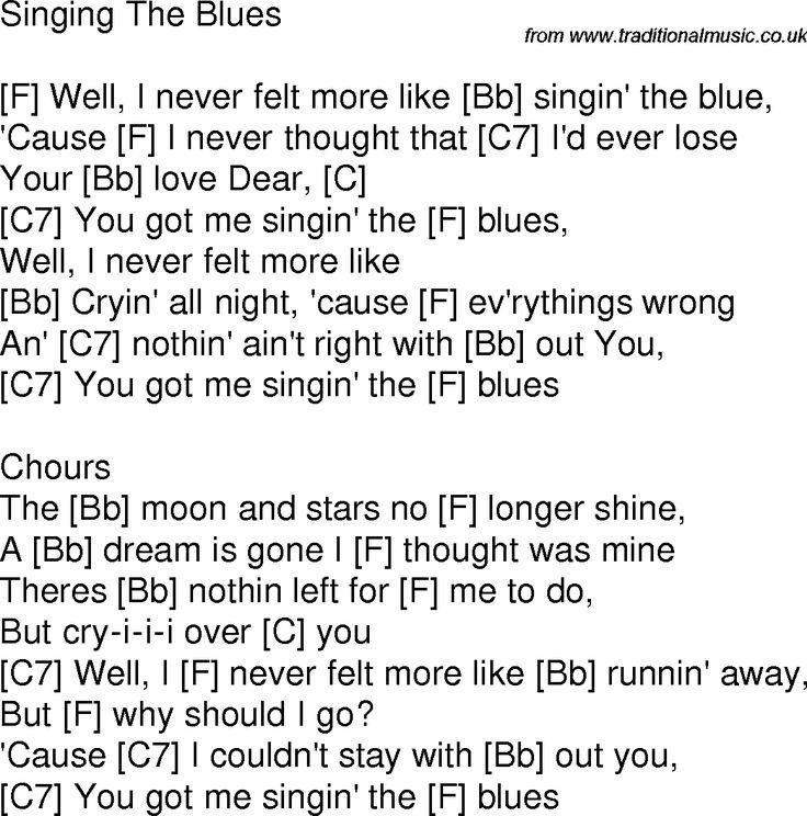 how to write blues lyrics