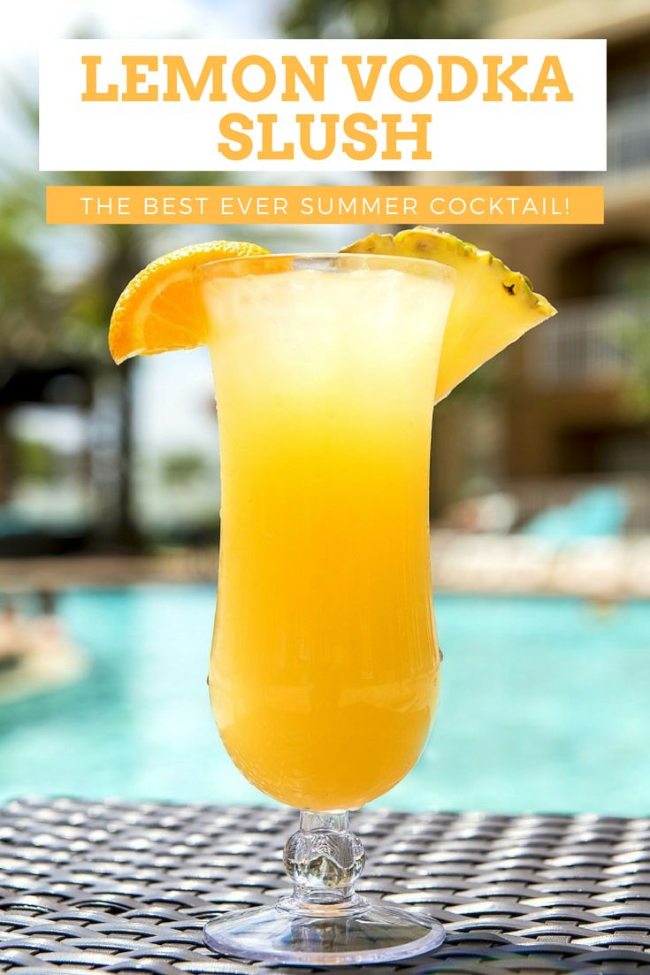 Fresh Lemon Vodka Slush Cocktail Recipe | This summer slush cocktail is sweet, zingy, frosty and loaded with vodka! It's perfect for a crowd and is so simple to make you wouldn't believe it! Seriously, it's the best summer cocktail ever and the only one you'll want to drink this season! via @happyhealthymot