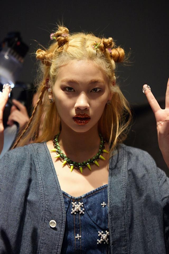 foreign orange : Photo Jung Hoyeon at Steve J & Yoni P Spring 2014 Seoul Fashion Week shot by Seung Lee for Dazed Digital