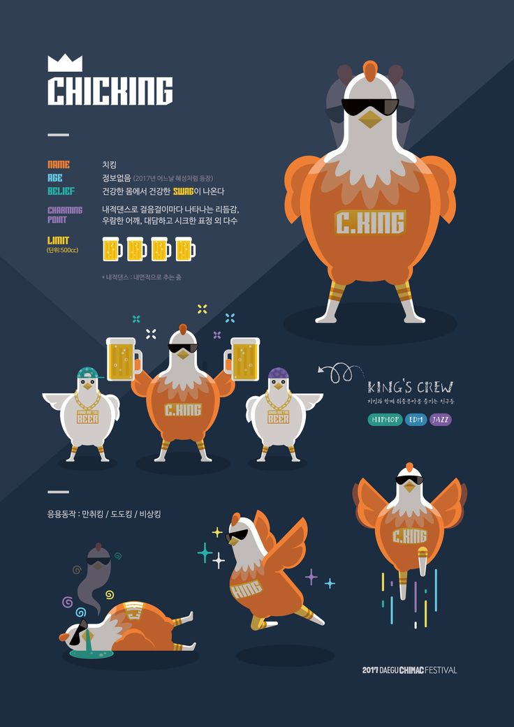 Chicken Character. CHICKING