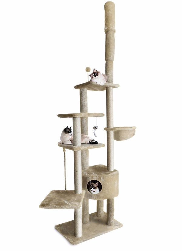 Furhaven Pet 113 Ceiling Cat Three 97403 A Large House For Cats That Have A Taste Advantages Using Materials Cat Tree House Cat Playground Cat Furniture