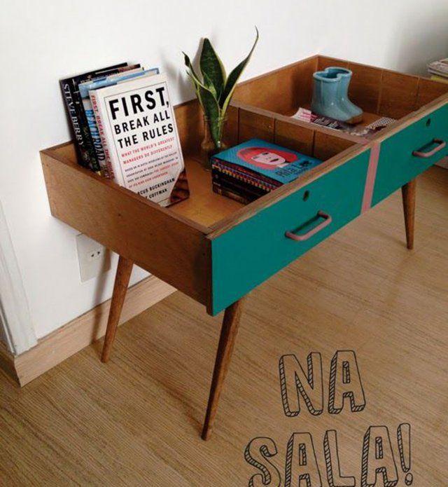 Des tiroirs transformés en meubles                                                                                                                                                                                 Plus