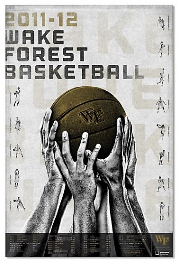 Wake Forest Basketball promotional campaign