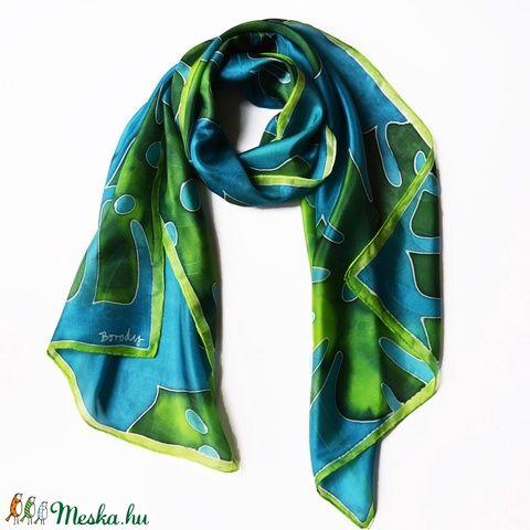 Trópusi selyemsál pálmalevelekkel (silkandmore) - Meska.hu