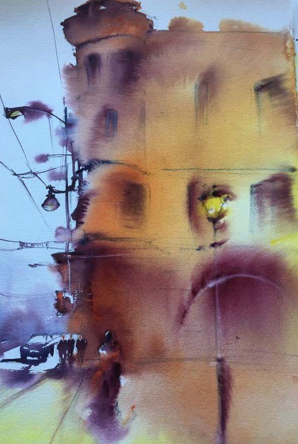 #акварель #живопись #архитектура #рим #италия  Elena Lebsack 2017 #скетч #скетчбук #набросок #эскиз #пленэр #watercolor #watercolorpainting #sketch #sketchbook #aquarelle #italy #rome #architecture #pleinair