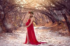 maternity gowns photography winter - Google Search