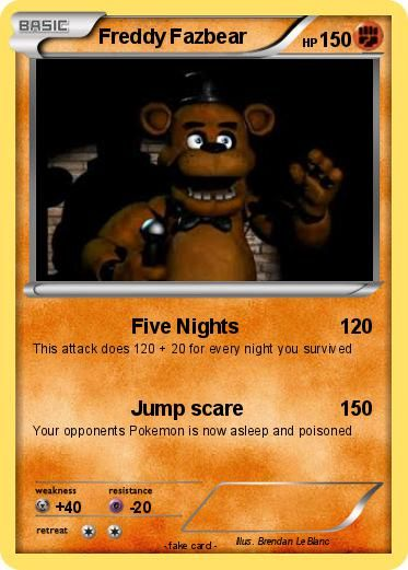 five nights at freddys cards all | Language Card : english------If only this was a Magic card.
