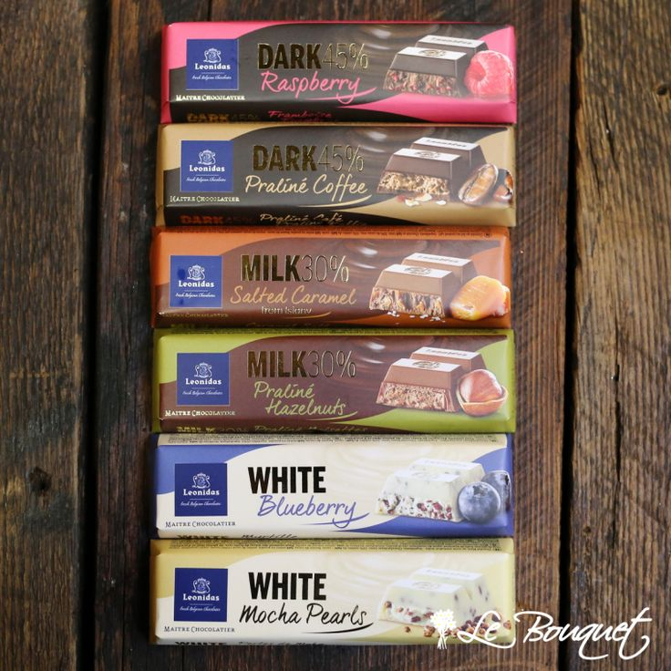 Lots and lots of chocolate!  Assorted mini chocolate Leonidas bars https://www.lebouquet.com/en/mini-50gr-leonidas-chocolate-bars