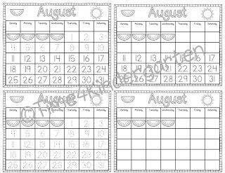 Time 4 Kindergarten: Calendar