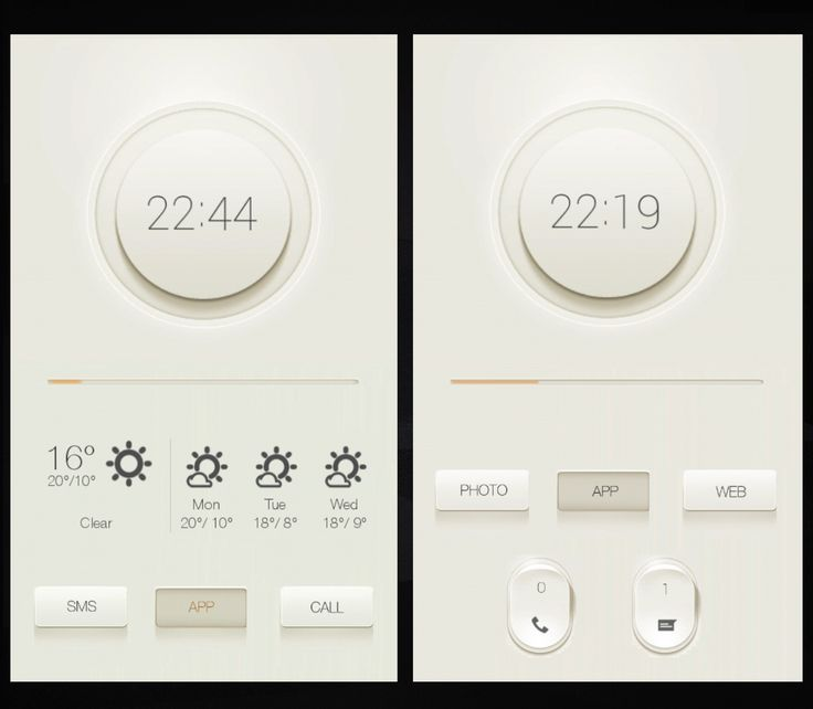 Cream UI Project Android Homescreen by PIPPOTO - MyColorscreen