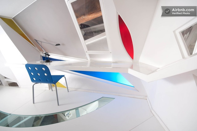 A house designed like a spaceship in Rome, Italy.: Houses Design