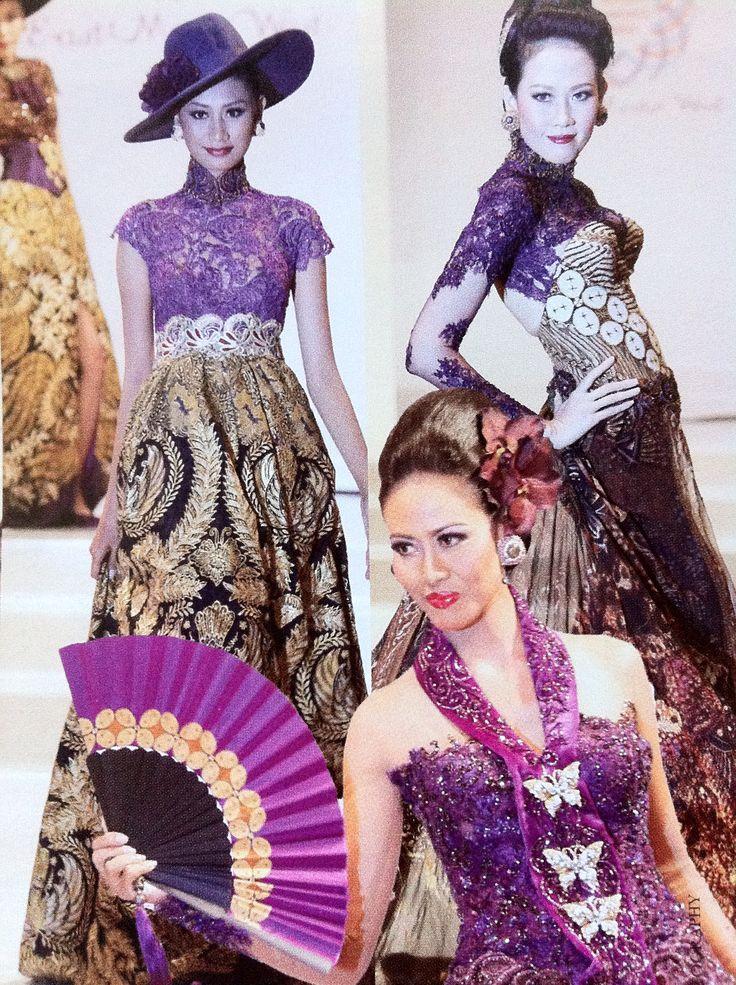 Puspa Warni by anne #lece #lavender #batik #kebaya #modern