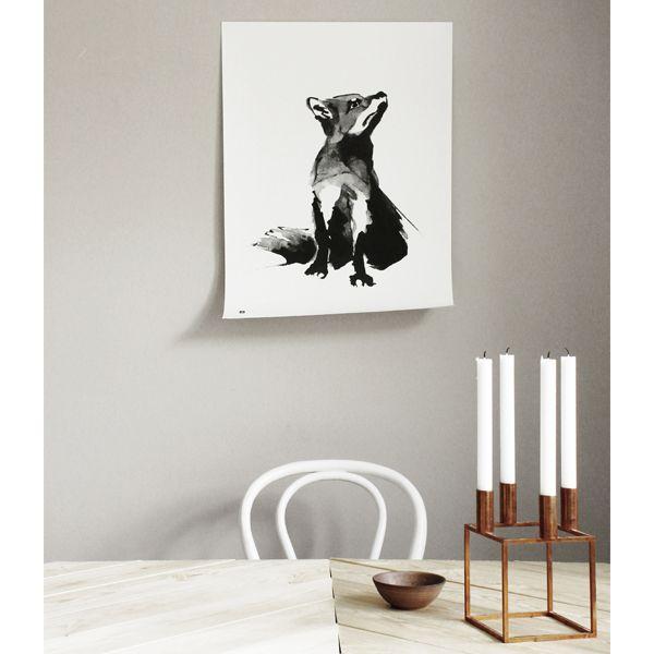 Teemu Järvi Illustrations Fox poster, 50 x 70 cm | Posters | Decoration | Finnish Design Shop