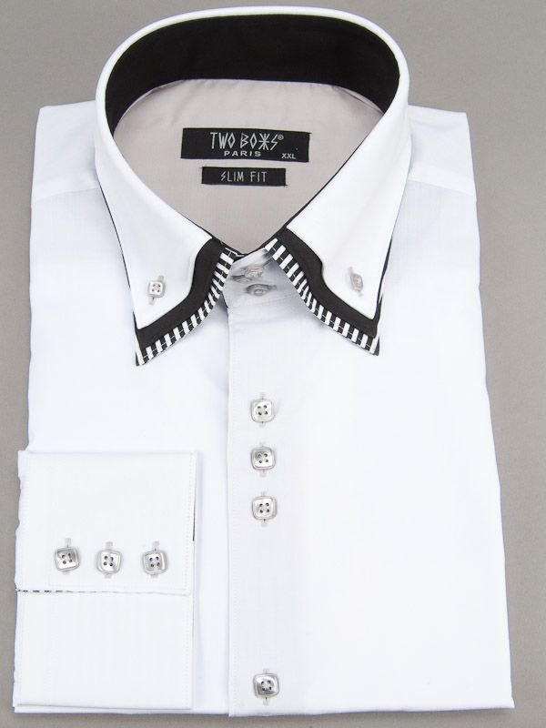 2091 T&B Shirt-White
