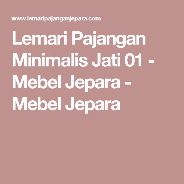 Lemari Pajangan Minimalis Jati 01 - Mebel Jepara - Mebel Jepara