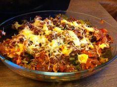 gratin cu brocoli ;rosii si carne tocata   Dieta Dukan