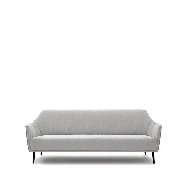 Ell soffa - ljusgrå, tyg Dumet 121
