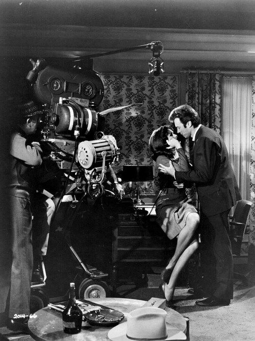 Clint Eastwood filming a scene for Don Siegel on the set of Coogan's Bluff, 1968.