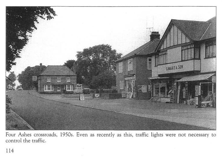 Four ashes pub and shop takeley crossroads 1950