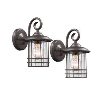 Shop for Chloe Transitional 1-light Oil Rubbed Bronze Outdoor Wall Lantern 2-pack. Get free delivery at Overstock.com - Your Online Garden