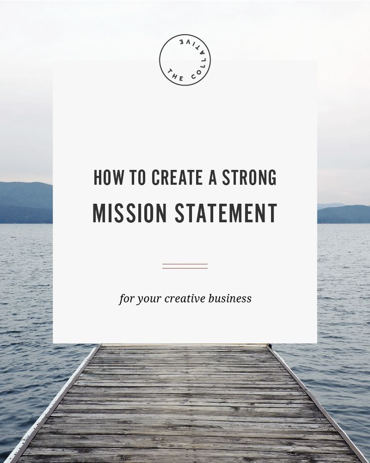 How to create a strong mission statement for your creative business