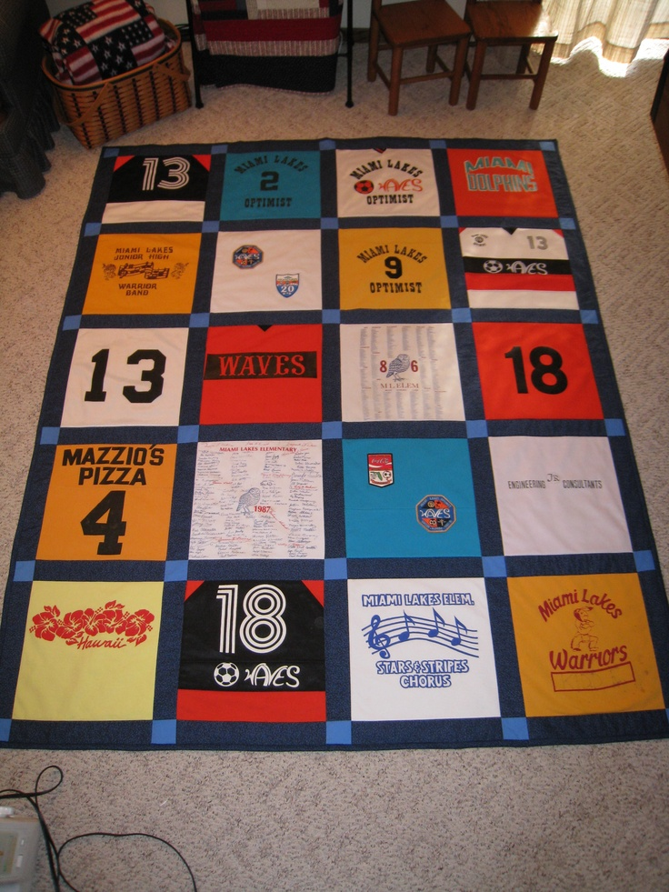 Tee Shirt Quilt For High School Graduation Quilts