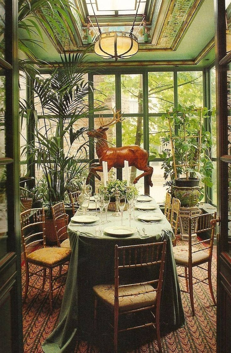 garden dining room inspiration for sunroom Now