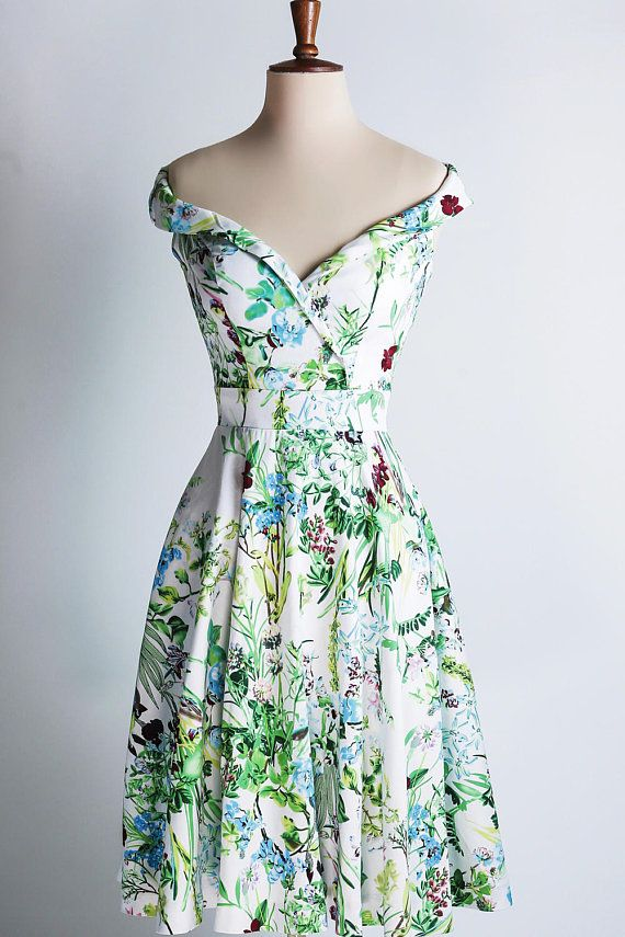 Summer meadow dress off-the-shoulder dress made-to-measure