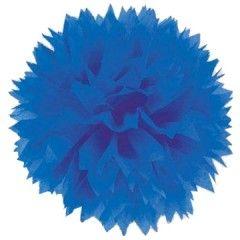 Χάρτινο pom pom μπλε