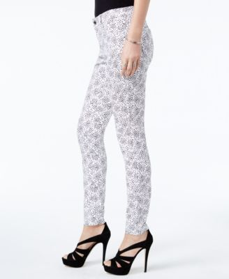 Michael Michael Kors Printed Skinny Jeans,a Macy's Exclusive Style - White/Black 14