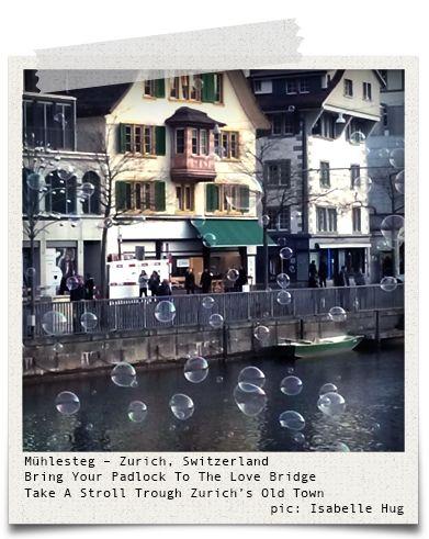 Mühlesteg - Zurich, Switzerland (pic: Isabelle Hug via www.hiddentreasures.ch)
