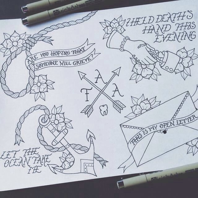 The Amity Affliction tattoos
