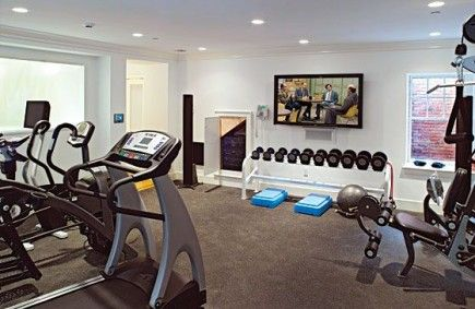 Gym - blanc Home Gym Ideas. The easy way to buy or sell your home and maximize your ROI -  http://www.LystHouse.com