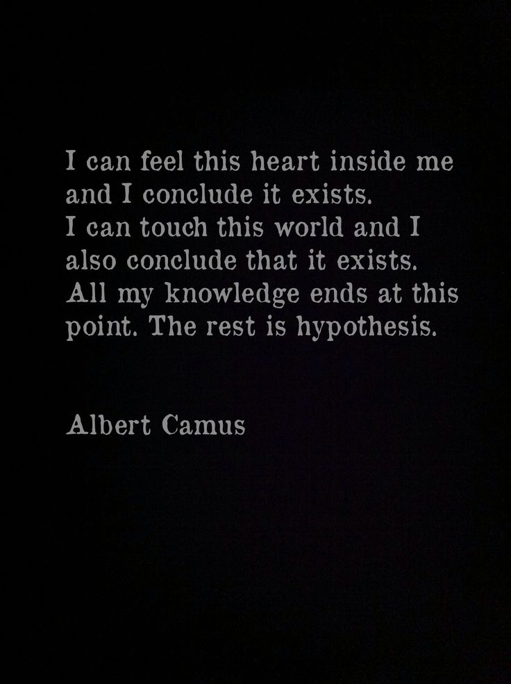 Albert Camus, The Myth of Sisyphus Love Thy Neighbor ... Everything else is commentary