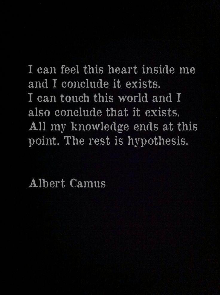 Albert Camus, The Myth of Sisyphus Love Thy Neighbor ... Everything else is commentary