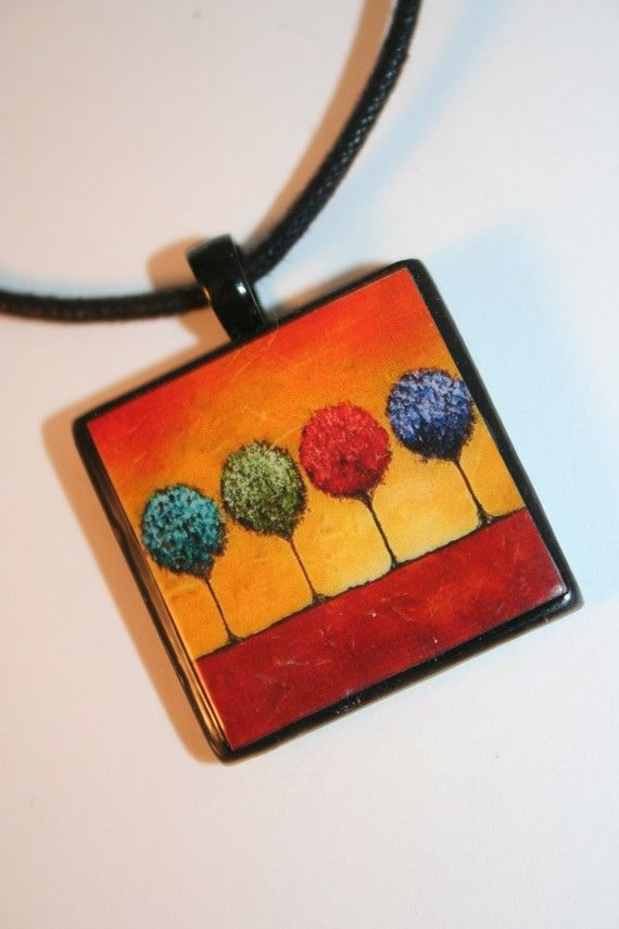 Four Seasons Polymer Clay Necklace