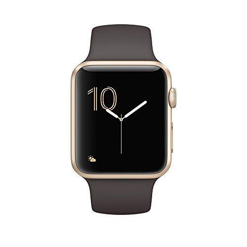 awesome Apple Watch Series 2 OLED 34.2g Oro reloj inteligente - relojes inteligentes (Oro, Aluminio, Marrón, Fluoroelastómero, Rectangular, 140 - 210 mm)